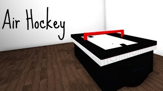 How To Make A Air Hockey Table In Bloxburg | ROBLOX | Bloxburg Tips And Tricks #3