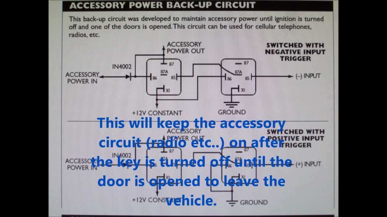 Stereo Wire Diagram Add Rap Retained Accessory Power In Your Car Stereo Youtube