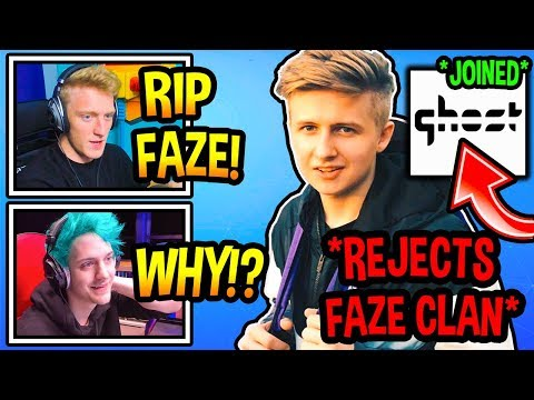 Streamers SHOCKED After Symfuhny REJECTS FaZe Clan & Joins Ghost Gaming! (Fortnite Moments)
