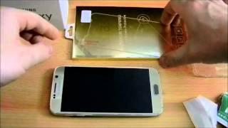 Samsung Galaxy S6 Gold Panzerglas - Schutzfolie blasenfrei anbringen (Tutorial) deutsch