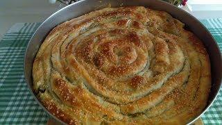 Çıtır Çıtır El Açması Ispanaklı Börek Tarifi