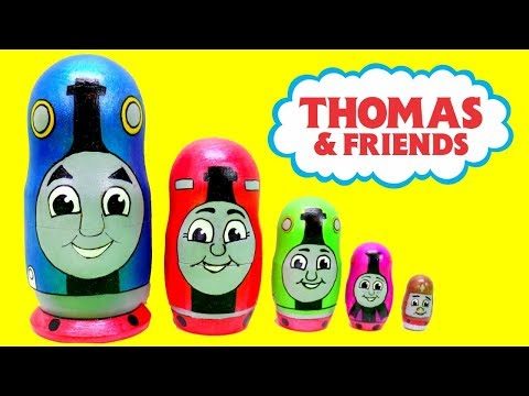 Thomas & Friends Toy Nesting Dolls with Thomas the Tank Engine Toy Surprises.