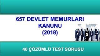 657 Sayılı Devlet Memurları Kanunu Test Soruları-2018