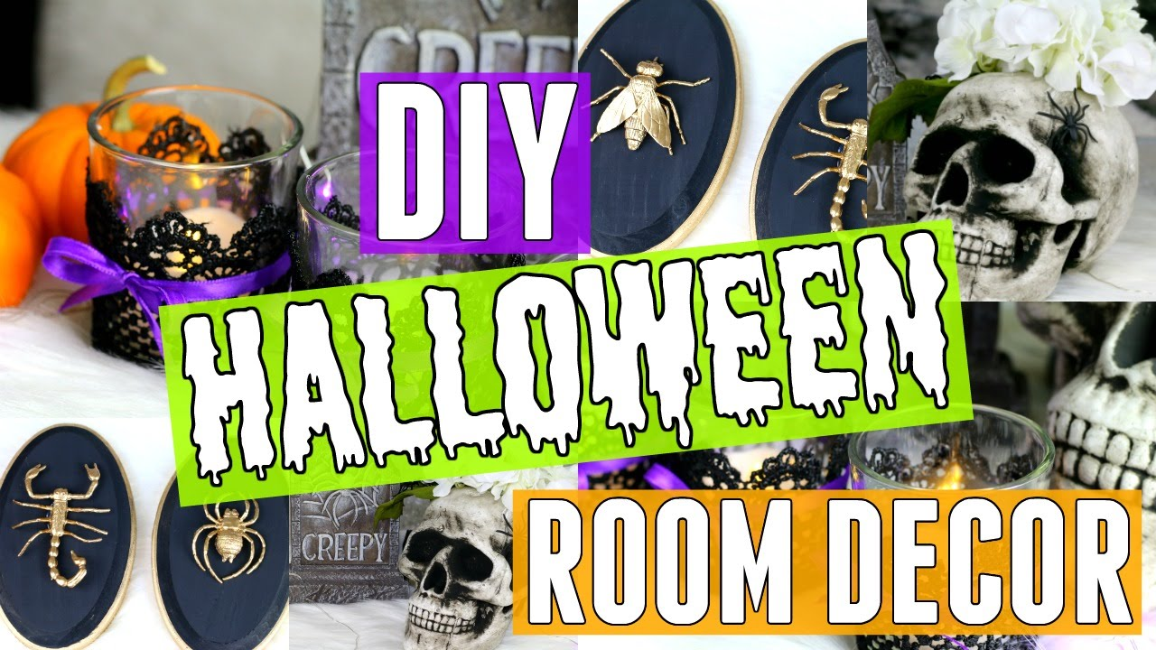 diy halloween room decor 3 cheap easy room decor ideas for halloween youtube - Halloween Room Ideas
