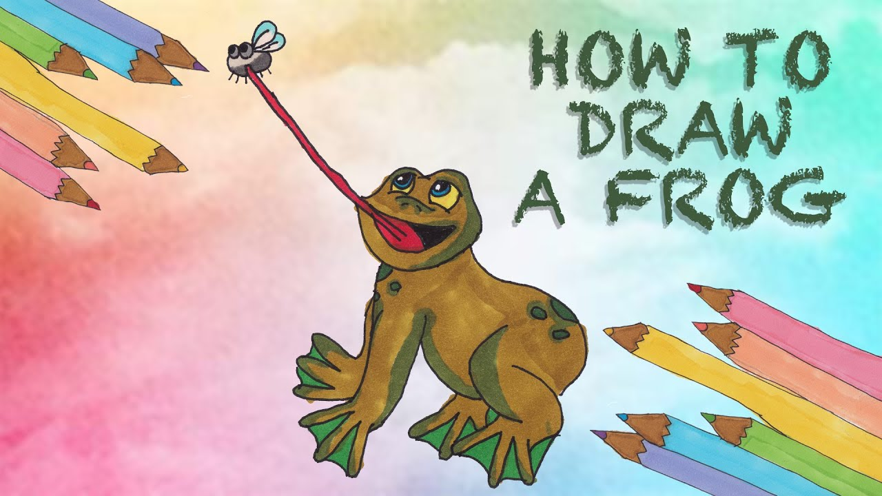 How to Draw a Frog - YouTube