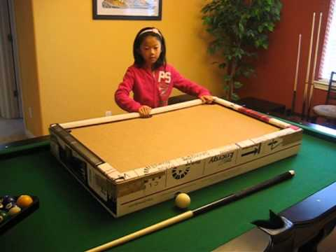 how to make a cardboard pool table 1