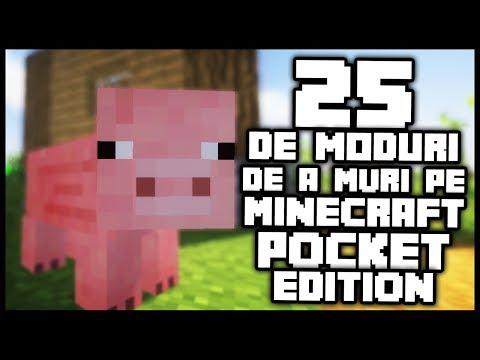 25 DE MODURI DE A MURI PE MINECRAFT POCKET EDITION