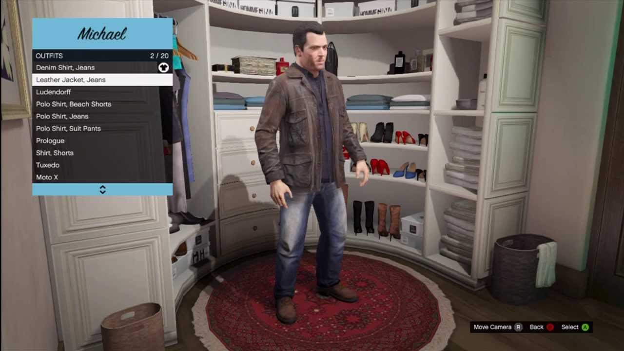 gta 5 special occasion outfits leather jacket jeans review gameplay youtube. Black Bedroom Furniture Sets. Home Design Ideas