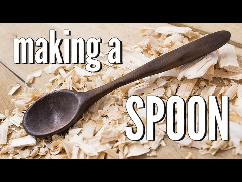 Carving a Wooden Spoon