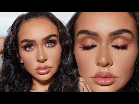 FULL FACE DRUGSTORE VALENTINES DAY MAKEUP +HAIR!