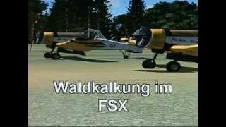 Waldkalkung mit der PZL M 18 Dromader im FSX, Agrarflugzeug, Crop Duster Flight Simulation