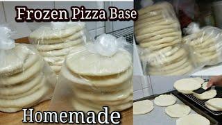 Membekukan Roti pizza Frozen Pizza Base  Tanpa Telur, Susu,Mentega (   Homemade).
