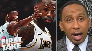 FIRST TAKE | Stephen A. AMAZED LeBron' 40Pts unstoppable Buter 35 Pts, as Lakers fall to Heat Game 5