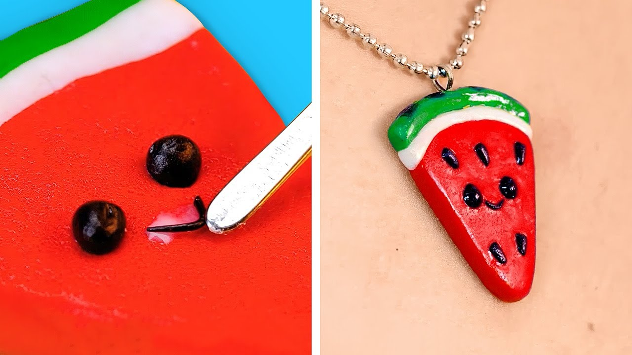 Cute Mini Crafts And Jewelry Out Of Polymer Clay    Cheap But Colorful DIY Accessories