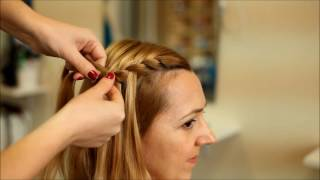 Плетение Водопад / French braids with weave