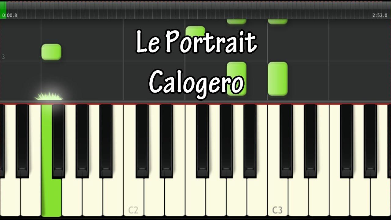Le portrait - Calogero - Tablature Piano : Tutoriel (Niveau du00e9butant) - YouTube