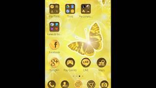 Butterfly Gold Wallpaper Theme screenshot 2