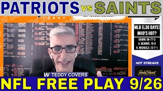 NFL Picks and Predictions | Patriots vs Saints Betting Preview | Big Game Breakdown for Sept 23