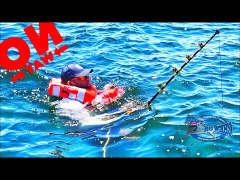 Insane Life Jacket Fishing Challenge - Big Fish Tries To Drown Me! Never Attempted Before