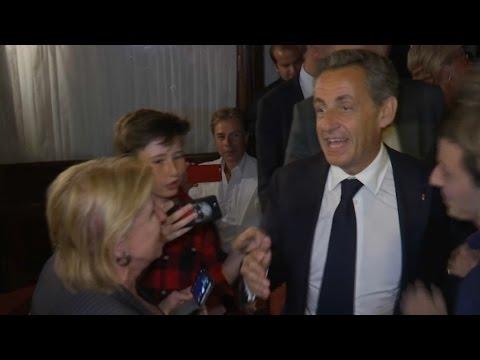 Nicolas Sarkozy fête sa candidature avec ses proches