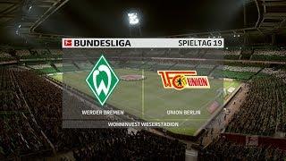 Hier der 21. spieltag 2019/20 bundesliga und ich spiele sv werder bremen!sv bremen 5:2 1.fc union berlin ⚽️ki ist auf profi gestellt eine hal...
