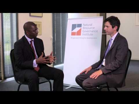 NRGI's Patrick Heller interviews Guinea's Abdoulaye Magassouba