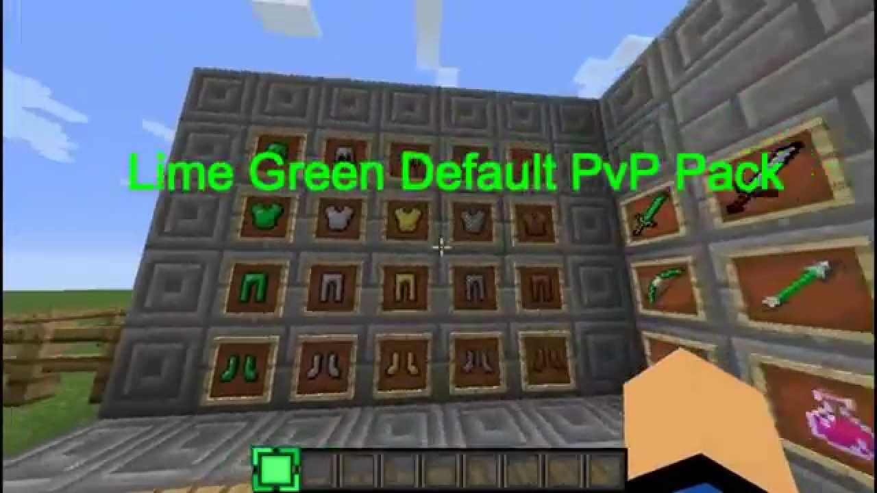 Minecraft Texture Pack : Lime Green Default PvP Pack