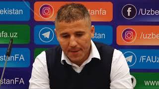 Post-match press-conference Ulug'bek BAQOEV