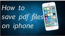 How to save pdf on iPhone/iPad/iPod touch devices