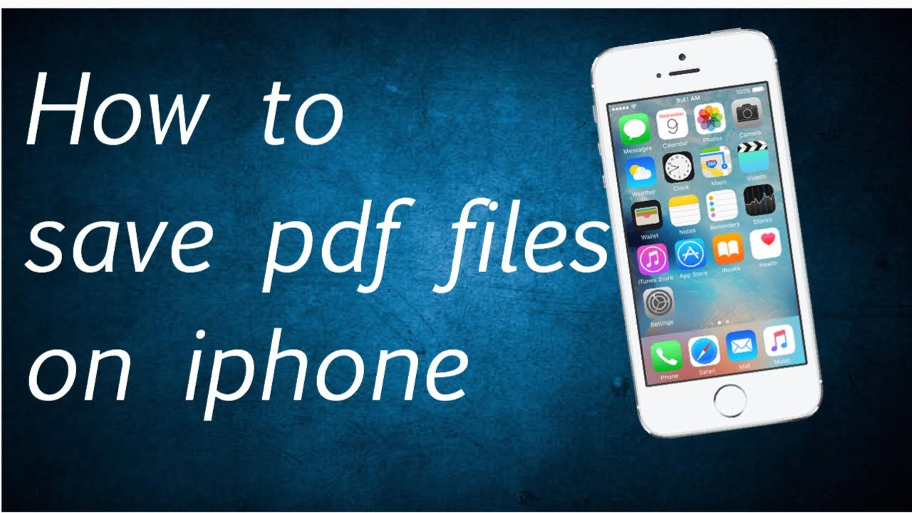 You on ipad can files save an and pdf