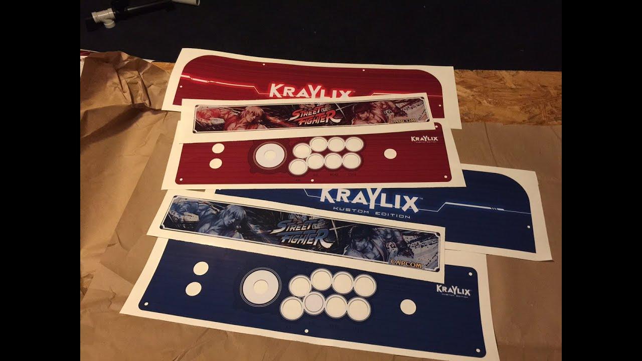 Vinyl Printing Of Kraylix Arcade Cabinet Graphics Youtube