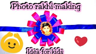 DIY rakhi/How to make Photo Rakhi/rakhi making idea/Rakhi for competition idea/easy rakhi making