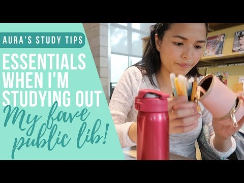 What's In My Study Out Bag + Inside A Free Public Library in