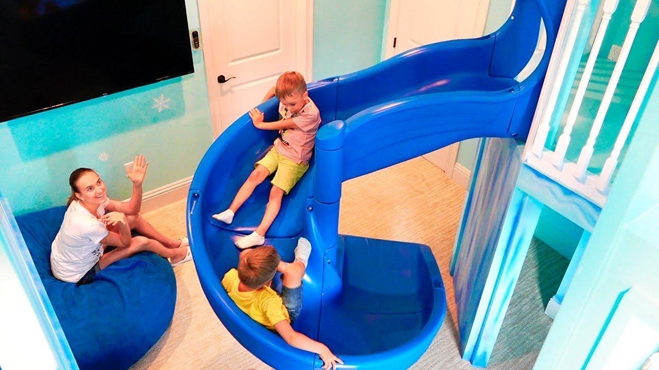 Download Ngôi nhà mơ ước của Vlad và Nikita với hai sân chơi trong nhà dành cho trẻ em
