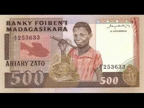 Paper money of Madagascar Ariary Madagascar - banknotes - banknotes