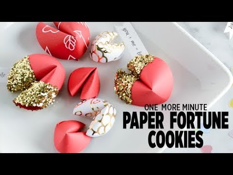 One More Minute: Paper Fortune Cookies