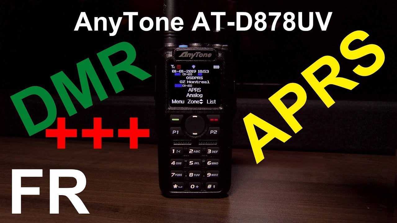 Anytone AT-D878UV DMR/FM/APRS Handheld Radio | Wifi UMTS/3G GSM