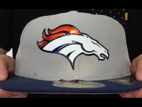 Broncos  2015 NFL DRAFT  Grey-Navy Fitted Hat by New Era - YouTube de098cd31