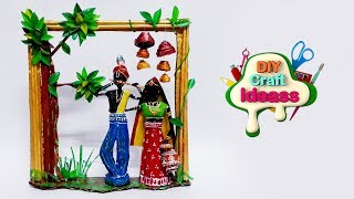 Newspaper home decor radha krishna | Newspaper crafts | Best out of waste