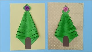 How to Make Funny Christmas Trees Paper Crafts by Hand for Kids