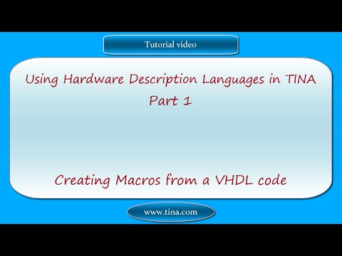 Using Hardware Description Languages in TINA, part 1: Creating Macros from a VHDL code