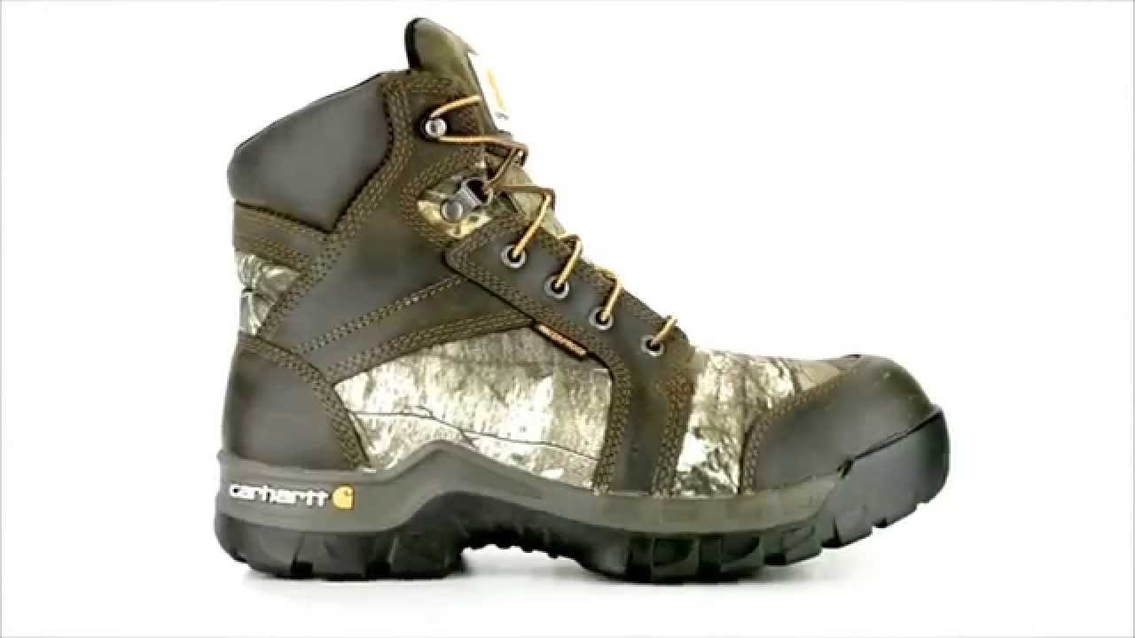 Men's Carhartt CMF6375 Composite Toe Waterproof Work Boot Steel ...