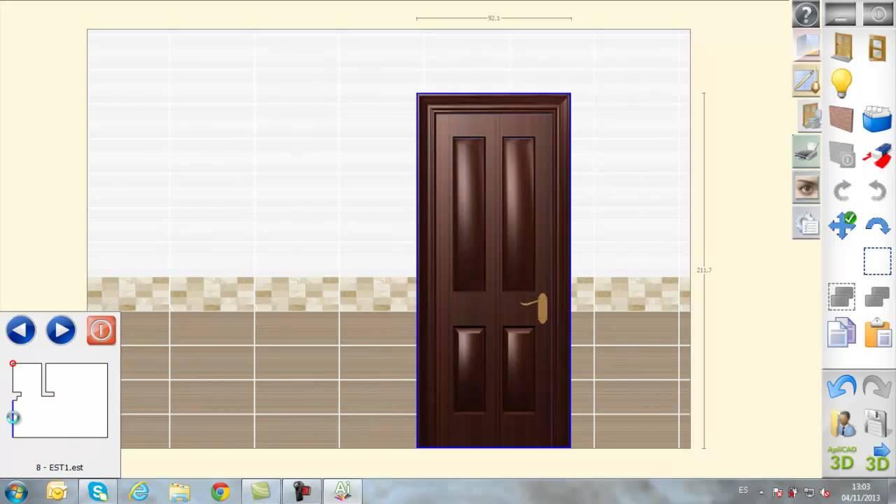 diseño interior: cuarto de baño 3d - youtube