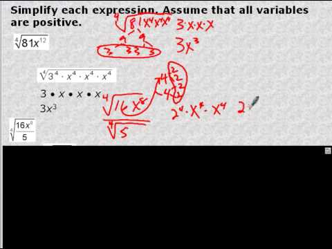 Algebra 2 Section 8 6 Radical Expressions And Rational Exponents