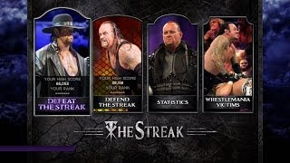 WWE 2K14 Defeat the Streak Mode Gameplay (How to unlock The Undertaker Retro)