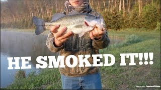 BASS FISHING PRIVATE LAKE! *MY FIRST BASS FISHING VIDEO*