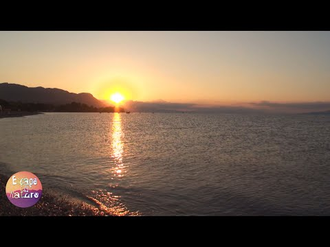 Island sunrise # Sound of sea waves and birds # Relaxing video. Amazing nature scenery # 1080p video