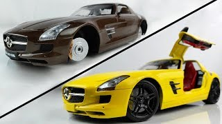 Transforming a Boring Mercedes SLS Model Car into a Splendid one - Car Restoration and Customization