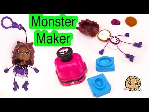 Monster High Maker Machine Create A Clawdeen Wolf Mini Doll Craft Toy Playset - Cookieswirlc Video
