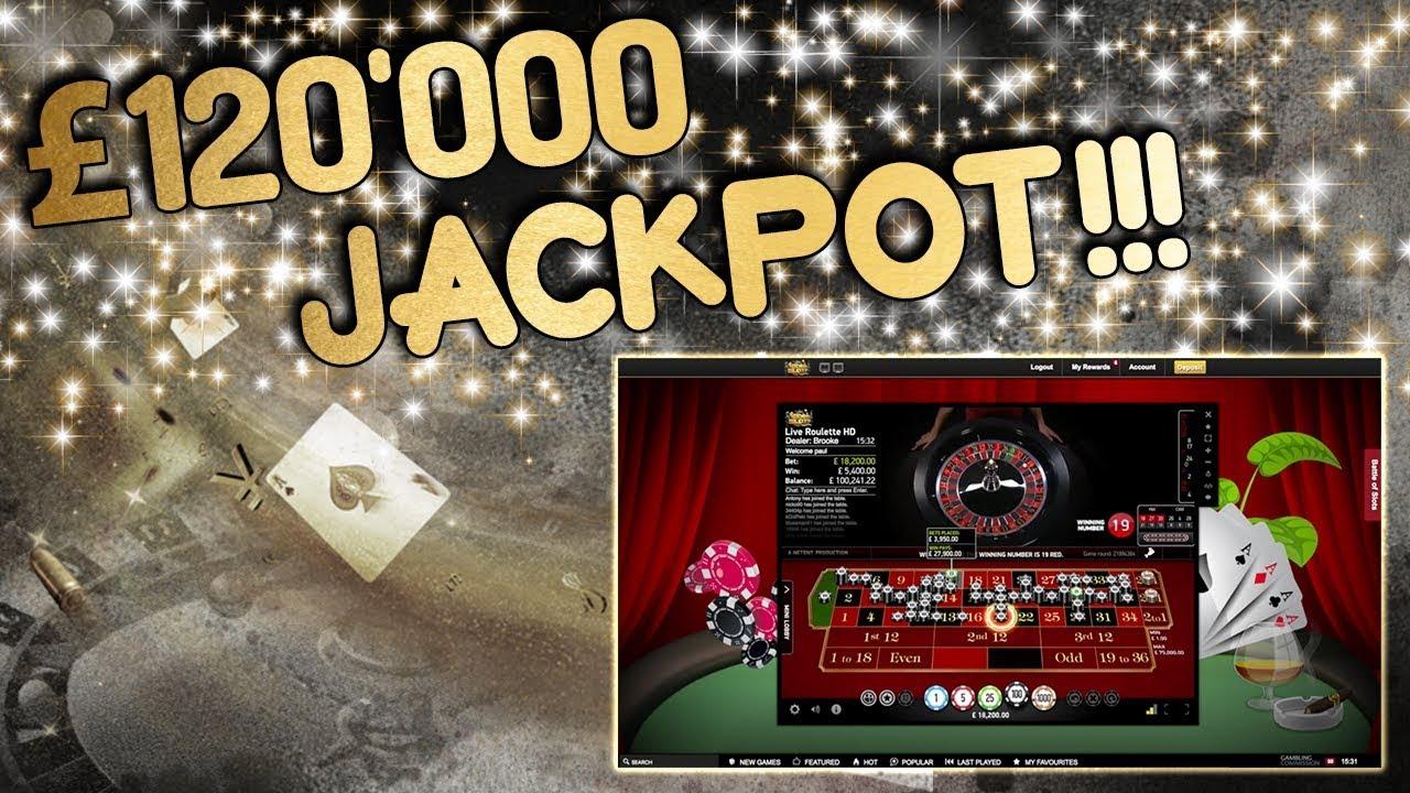 \u00a3120,000 JACKPOT!!!!! Live Roulette!!! - YouTube